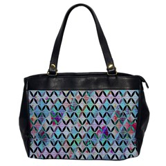 Rhomboids Flower Of Life Paint Pattern Office Handbags by Cveti