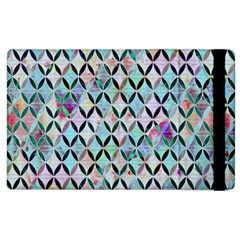 Rhomboids Flower Of Life Paint Pattern Apple Ipad 3/4 Flip Case by Cveti