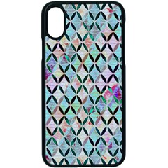 Rhomboids Flower Of Life Paint Pattern Apple Iphone X Seamless Case (black) by Cveti