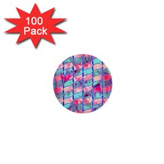 Leaves Paint Flower Of Life 01 1  Mini Buttons (100 Pack)  by Cveti