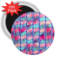 Leaves Paint Flower Of Life 01 3  Magnets (100 Pack) by Cveti