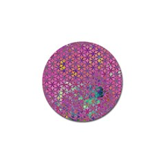 Flower Of Life Paint Purple  Golf Ball Marker by Cveti
