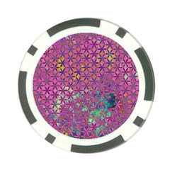 Flower Of Life Paint Purple  Poker Chip Card Guard (10 Pack) by Cveti