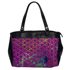 Flower Of Life Paint Purple  Office Handbags by Cveti