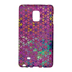 Flower Of Life Paint Purple  Galaxy Note Edge by Cveti
