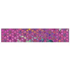 Flower Of Life Paint Purple  Small Flano Scarf by Cveti