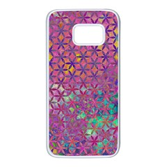 Flower Of Life Paint Purple  Samsung Galaxy S7 White Seamless Case