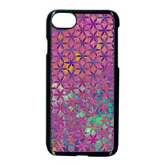 Flower Of Life Paint Purple  Apple Iphone 7 Seamless Case (black) by Cveti