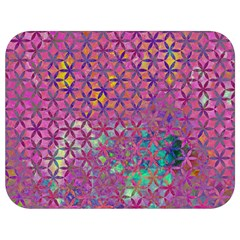 Flower Of Life Paint Purple  Full Print Lunch Bag by Cveti