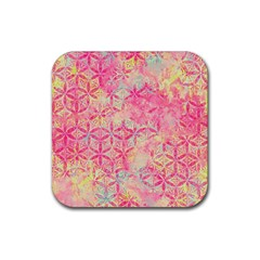 Flower Of Life Paint Pattern 08jpg Rubber Square Coaster (4 Pack)  by Cveti