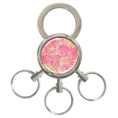 Flower Of Life Paint Pattern 08jpg 3 Ring Key Chains