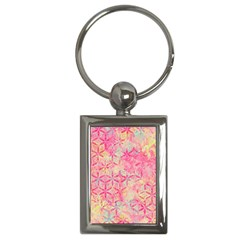Flower Of Life Paint Pattern 08jpg Key Chains (rectangle)  by Cveti