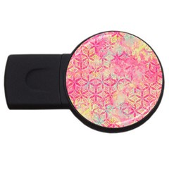 Flower Of Life Paint Pattern 08jpg Usb Flash Drive Round (4 Gb) by Cveti