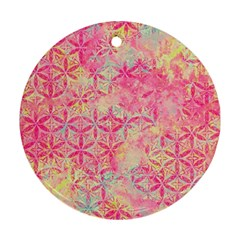 Flower Of Life Paint Pattern 08jpg Round Ornament (two Sides) by Cveti