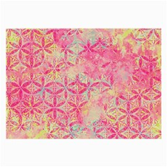Flower Of Life Paint Pattern 08jpg Large Glasses Cloth (2 Side) by Cveti