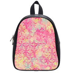 Flower Of Life Paint Pattern 08jpg School Bag (small) by Cveti