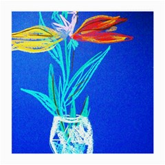 Dscf1451   Birds If Paradise In A Cristal Vase Medium Glasses Cloth (2 Side) by bestdesignintheworld