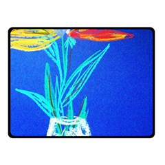 Dscf1451   Birds If Paradise In A Cristal Vase Double Sided Fleece Blanket (small)  by bestdesignintheworld