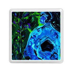 Dscf1604   Lady In Blue Kimono Memory Card Reader (square)  by bestdesignintheworld