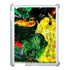 Tigers Lillies Apple Ipad 3/4 Case (white)