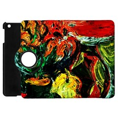 Pumpkins, Lamp And Tiger Lillies Apple Ipad Mini Flip 360 Case by bestdesignintheworld