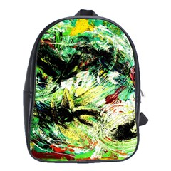 In The Nest And Around 4 School Bag (large) by bestdesignintheworld
