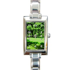 Lake Park 13 Rectangle Italian Charm Watch by bestdesignintheworld