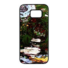 Weed Tumbler And Blue Rose Samsung Galaxy S7 Edge Black Seamless Case