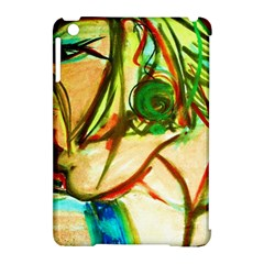 Girl In A Blue Tank Top Apple Ipad Mini Hardshell Case (compatible With Smart Cover) by bestdesignintheworld