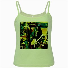 Dance Of Oil Towers 2 Green Spaghetti Tank by bestdesignintheworld