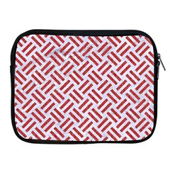 Woven2 White Marble & Red Denim (r) Apple Ipad 2/3/4 Zipper Cases by trendistuff