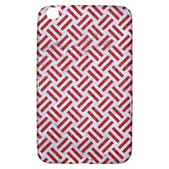 Woven2 White Marble & Red Denim (r) Samsung Galaxy Tab 3 (8 ) T3100 Hardshell Case  by trendistuff
