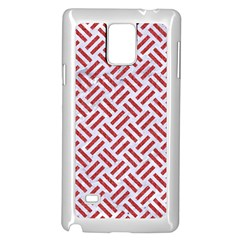 Woven2 White Marble & Red Denim (r) Samsung Galaxy Note 4 Case (white) by trendistuff