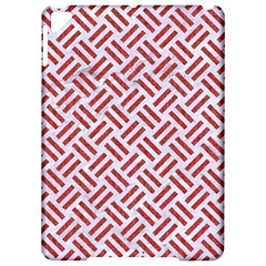Woven2 White Marble & Red Denim (r) Apple Ipad Pro 9 7   Hardshell Case by trendistuff