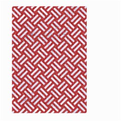 Woven2 White Marble & Red Denim Large Garden Flag (two Sides) by trendistuff