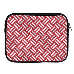 Woven2 White Marble & Red Denim Apple Ipad 2/3/4 Zipper Cases by trendistuff