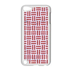 Woven1 White Marble & Red Denim (r) Apple Ipod Touch 5 Case (white) by trendistuff