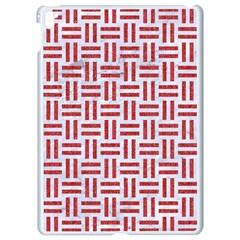 Woven1 White Marble & Red Denim (r) Apple Ipad Pro 9 7   White Seamless Case by trendistuff