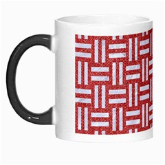 Woven1 White Marble & Red Denim Morph Mugs