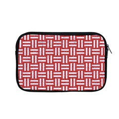 Woven1 White Marble & Red Denim Apple Macbook Pro 13  Zipper Case