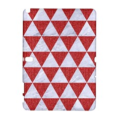 Triangle3 White Marble & Red Denim Galaxy Note 1 by trendistuff