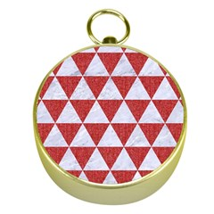 Triangle3 White Marble & Red Denim Gold Compasses by trendistuff