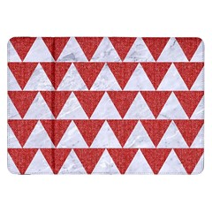 Triangle2 White Marble & Red Denim Samsung Galaxy Tab 8 9  P7300 Flip Case by trendistuff