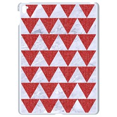 Triangle2 White Marble & Red Denim Apple Ipad Pro 9 7   White Seamless Case by trendistuff
