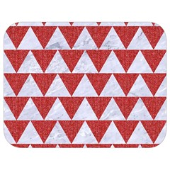 Triangle2 White Marble & Red Denim Full Print Lunch Bag by trendistuff
