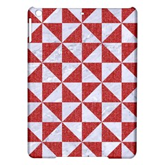 Triangle1 White Marble & Red Denim Ipad Air Hardshell Cases by trendistuff