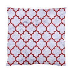Tile1 White Marble & Red Denim (r) Standard Cushion Case (two Sides) by trendistuff