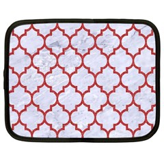 Tile1 White Marble & Red Denim (r) Netbook Case (xxl)  by trendistuff