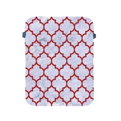 Tile1 White Marble & Red Denim (r) Apple Ipad 2/3/4 Protective Soft Cases by trendistuff