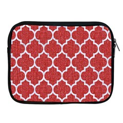 Tile1 White Marble & Red Denim Apple Ipad 2/3/4 Zipper Cases by trendistuff
